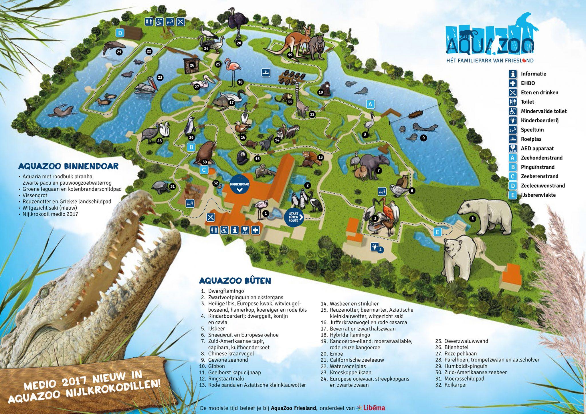 Plattegrond Aquazoo H 233 T Familiepark Van Friesland